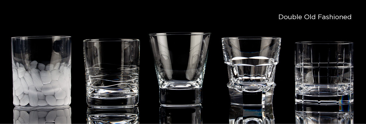 Crystal Double Old Fashioned Glasses